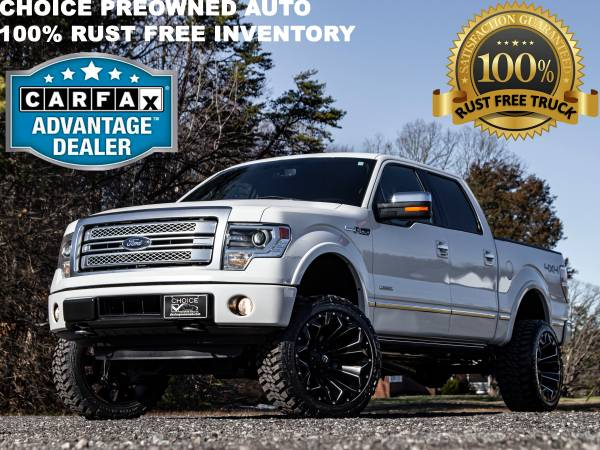 Photo PLATINUM 4X42014 FORD F150 CREW CAB 6 INCH RCX LIFTED LOADED - $24995 (Ford GMC Dodge Toyota Chevrolet)