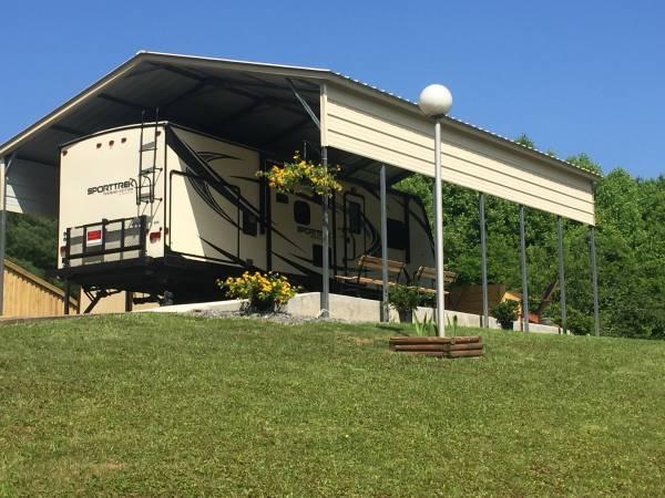 Photo Sale Pending - Deeded RV Site with Trailer (Blue Ridge Mountain VA - Near Music Center)