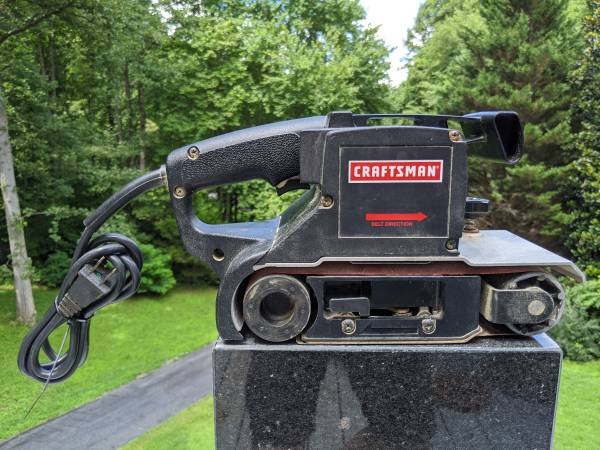 Photo Sears Craftsman 3x21quot 1HP Double-insulated Belt Sander Memory-track - $48 (Sylva)