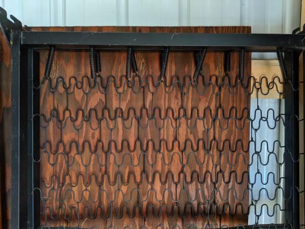 Photo Twin Size Black Metal Hook-on Bed Frame  Box Spring (Platform) - $25 (Sylva)