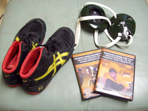 Photo Wrestling Shoes, Headgear and Videos - $15 (Fletcher)