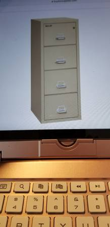 Photo quotFireKingquotFireproof Vertical Locked 4 Drawer File Cabinet - $589 (North Asheville near Beaver Lake)