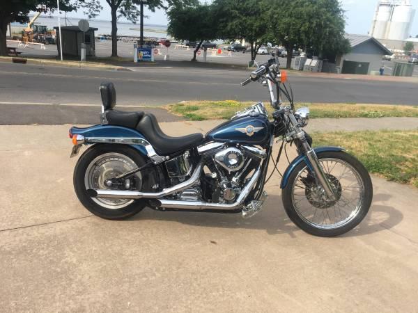 Photo 1996 Harley Fxst Softail big twin custom 6spd evo - $5,650 (Oswego)