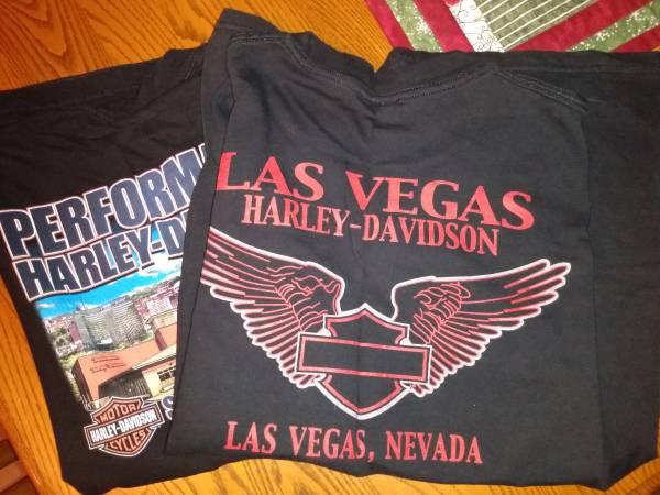 Photo (2) Harley Davidson Shirts - Mens Medium - $25 (East Syracuse)