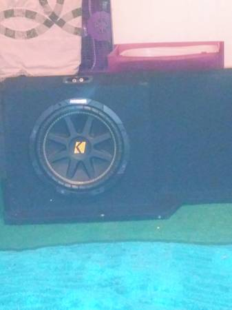 Photo 2 kicker competition speakers and box - $150 (Oswego)
