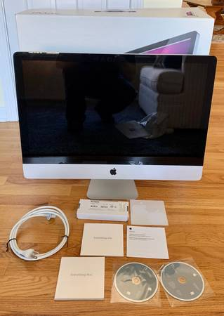 Photo APPLE MAC Imac 27 MC784LLA MID 2010 A1312 USED 2.93GHz QUAD-CORE i7 - $390 (East Syracuse)