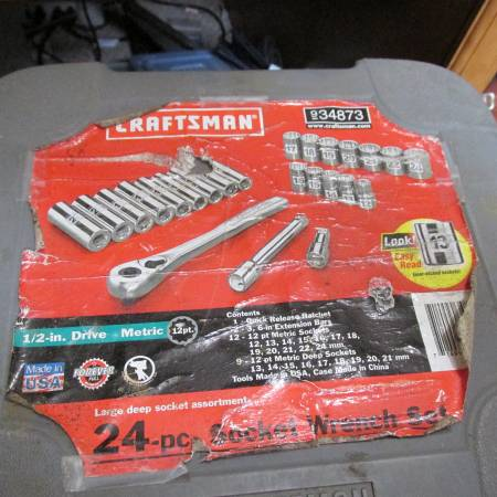Photo CRAFTSMAN USA 12quotDRIVE METRIC SOCKET SET - $50 (CENTRAL SQUARE)