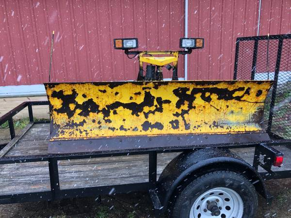 Photo Fisher 8 Ft Snow Plow Blade PLOW SIDE ONLY - $650