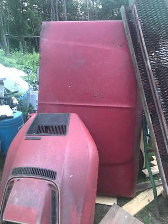 Photo Ford F100 parts vintage hood and door  - $250 (317 county route 38 Hastings New York 13076)