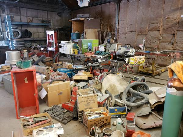 Photo Garage Sale Autobody shop going out of business, 36 years (Syracuse)