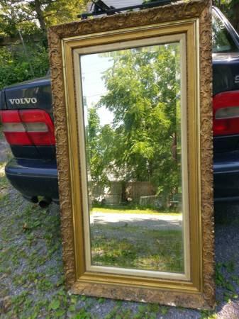 Photo Large Antique mirror full length Gilt Frame - $100 (Fayetteville)