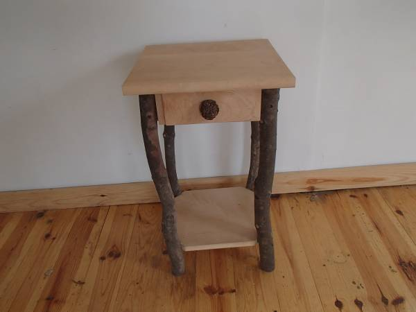 Photo Maple and ash nightstands- rustic Adirondack style - $90 (Orwell, NY)
