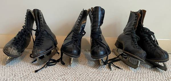 Photo Vintage Bauer Ice Skates, Size 6 12, 9 12,  11, Two Boxes, Canadian - $40 (Manlius)