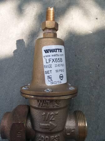 Photo WATTS PRESSURE REDUCING VALVE 12 INCH - $50 (Syracuse)