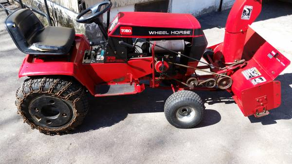 Photo Wheel Horse Tractor With Snow Blower - Trades Considered - Read... - $750 (Syracuse)