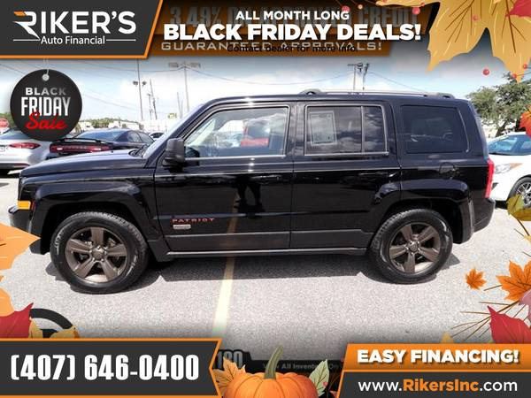 Photo $113mo - 2016 Jeep Patriot Sport - 100 Approved - $113 (Rikers Auto Financial)