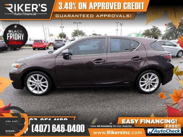 Photo $126mo - 2011 Lexus CT 200h 200 h 200-h - 100 Approved - $126 (Rikers Auto Financial)