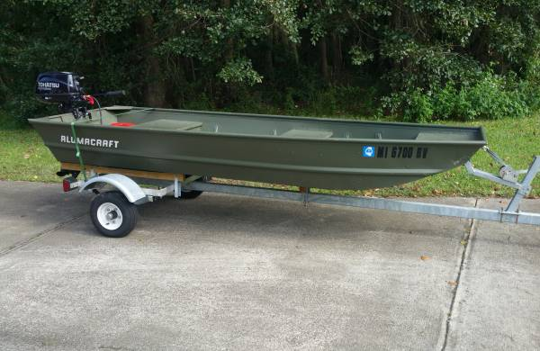 12 FT Jon Boat w/ 6hp & Trailer - $1999 (Tallahassee) | Boats For