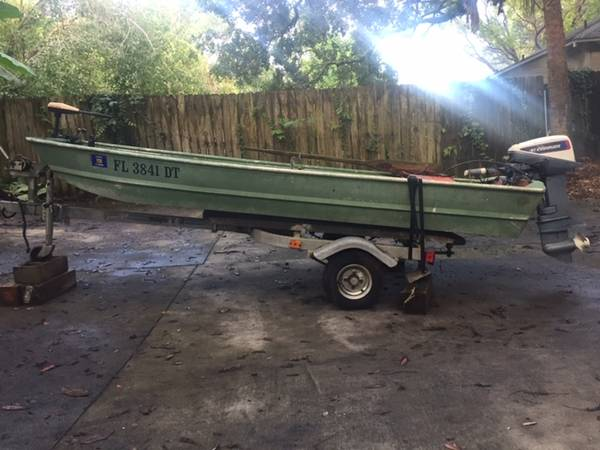 Photo 12 Ft Jon Boat with trailer and motors - $1,200 (Tallahassee)