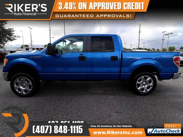 Photo $172mo - 2011 Ford F150 F 150 F-150 XLT - 100 Approved - $172 (Rikers Auto Financial)