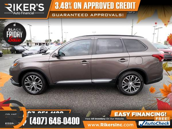Photo $186mo - 2016 Mitsubishi Outlander SEL - 100 Approved - $186 (Rikers Auto Financial)