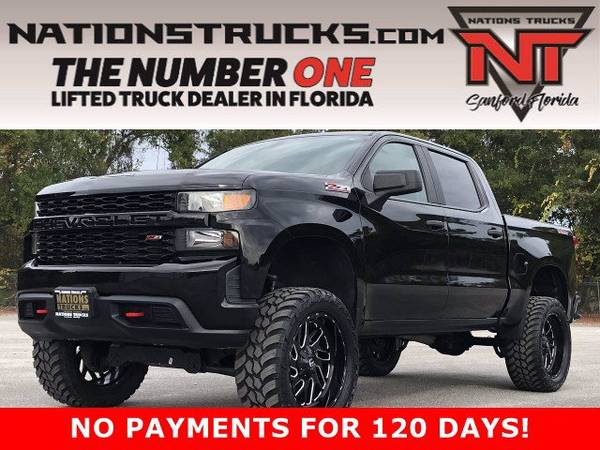 Photo 2019 CHEVY 1500 CUSTOM TRAILBOSS Z71 Crew Cab 4X4 LIFTED TRUCK - WARR - $47,995 (CENTRAL FLORIDA)