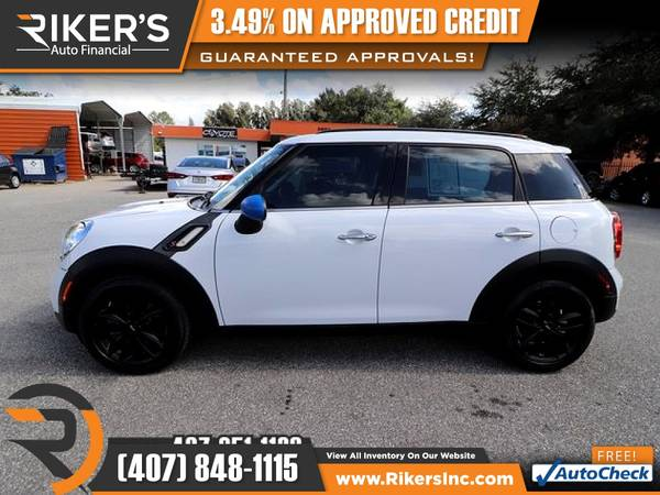 Photo $212mo - 2016 Mini Cooper Countryman S - 100 Approved - $212 (Rikers Auto Financial)