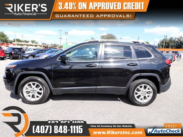 Photo $225mo - 2016 Jeep Cherokee Latitude - 100 Approved - $225 (Rikers Auto Financial)