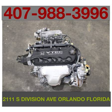 Photo 98 99 00 01 02 HONDA ACCORD 2.3L SOHC 4-CYL VTEC ENGINE ONLY JDM F23A - $450 (2111 S Division Ave Orlando, FL)