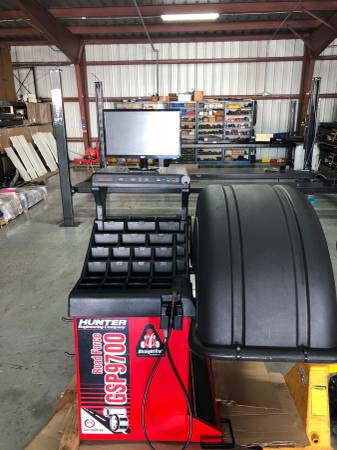 Auto Shop Equipment HUNTER Used Road Force Alignment Tire ...