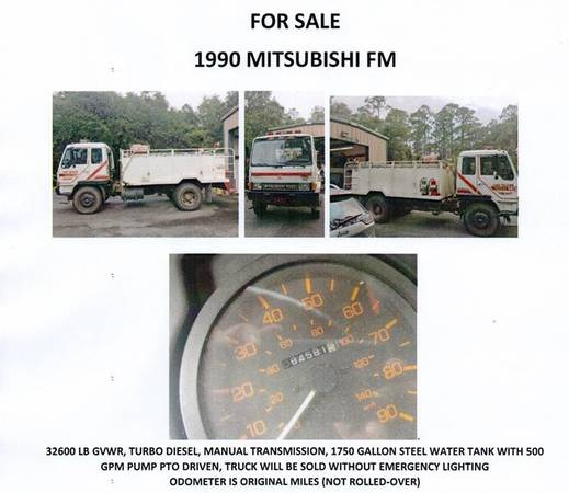 Photo Commercial Truck-Fire or Water - $9,500 (tallahassee)