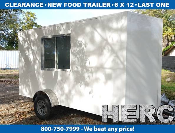 Photo Food Trailer Trailers  Food Truck Trucks  Concession  6x12 trailer - $2900 (Florida)