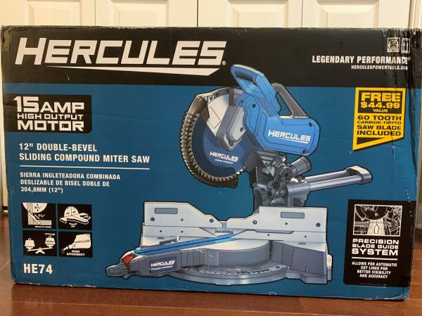 Photo HERCULES 12 In. Dual-Bevel Sliding Compound Miter Saw With Precision L - $350 (Tallahassee)