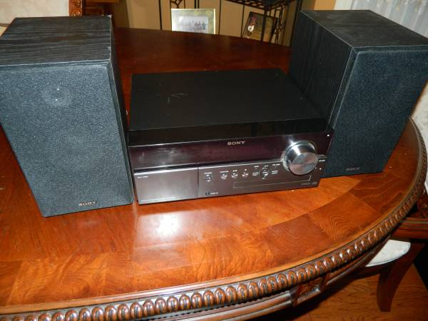 Photo Sony S-Master CD Player iPod Dock Mp3 Micro Hi-Fi Stereo System CMT-M - $65 (Tallahassee)