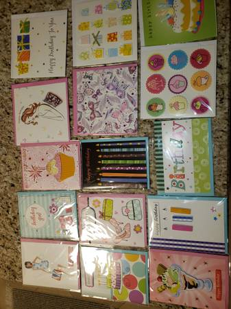 Photo 12 new in package hand crafted birthday cards  3 blank cards all for - $10 (New Port Richey)