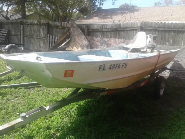 Photo 14 ft aluminum jon boat - $499 (Largo)