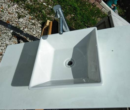 Photo 16 INCH Vessel sink and faucet - $130 (ZEPHYRHILLS)