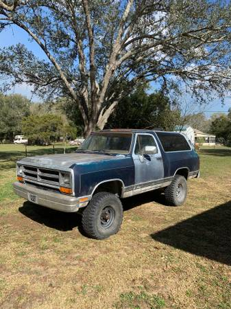 Photo 1991 Dodge Ram Charger 4x4 - $3000 (Dade City)