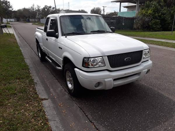 Photo 2002 FORD RANGER EXTENDED CAB TRUCK WITH TOPPER - $3795 (TAMPA)