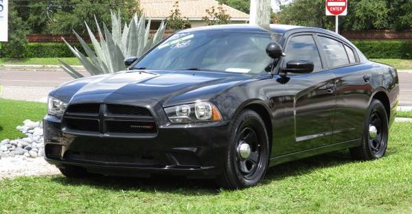Photo 2013 Dodge Charger POLICE Package -5.7 Liter HEMI V8 - Black -Clean - $6,500 (Palm Harbor)