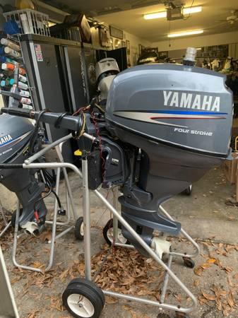 Photo 25hp Yamaha Four Stroke 153939 Shaft Tiller ELECTRIC START Water Ready - $2,600 (Tarpon Springs)