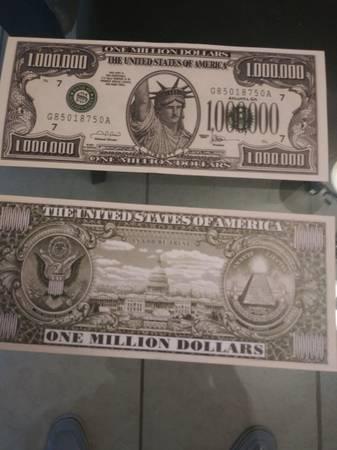 Photo 50 - ONE MILLION DOLLAR NOVELTY BILLS - $15 (New Port Richey)