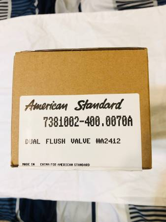 Photo AMERICAN STANDARD DUAL FLUSH VALVE For TOILET A2412 RETAIL WAS $30 - $15 (Cheval)