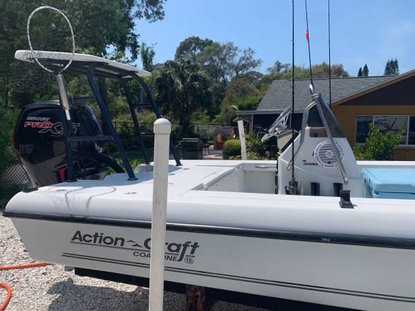 Photo Action craft 1802 w2018 mercury 115hp xs flats boat - $14500 (Palm harbor)