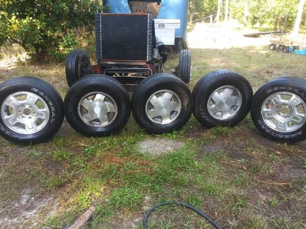 Photo Aluminum Chevy truck rims - $20 (Spring Hill)