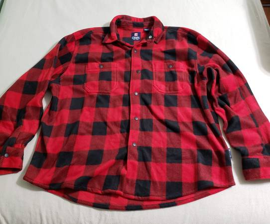 Photo Chaps Red and Black Flannel Snap Button Shirt 2XL - $50 (Spring Hill)