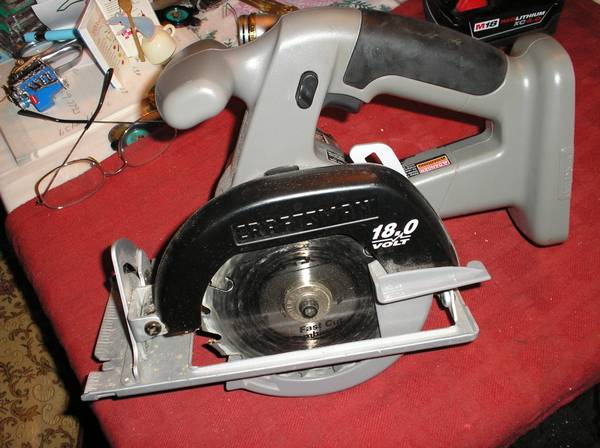 Photo Craftsman 18.0 Volt 5-12quot Trim Saw w Carbide Blade - $10 (St Petersburg)
