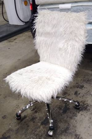 Photo Desk Chairs...Leather Plush, Small Compact Euro,  Inexpensive (Largo)