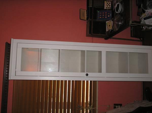 Photo Glass Front Single Door Storage Cabinet - $25 (St Petersburg)