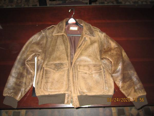 Photo Jacket, Bomber Style, Brown, Size M - $50 (St. Petersburg, FL)